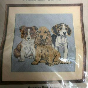 Vintage Something Special Needlepoint Kit Puppies